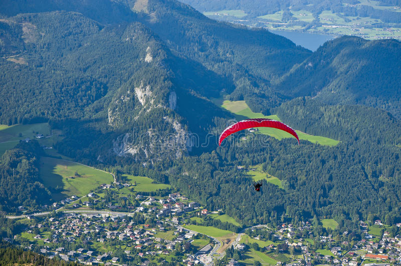 Alpine Paragliding royalty free stock photos