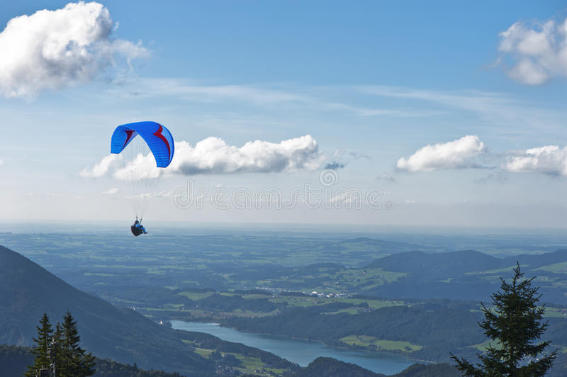 Alpine Paragliding royalty free stock images