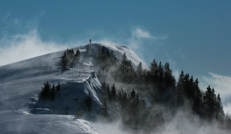 Download Alpine peak stock photo. Image of snow, hiker, skier, gaze - 7548868