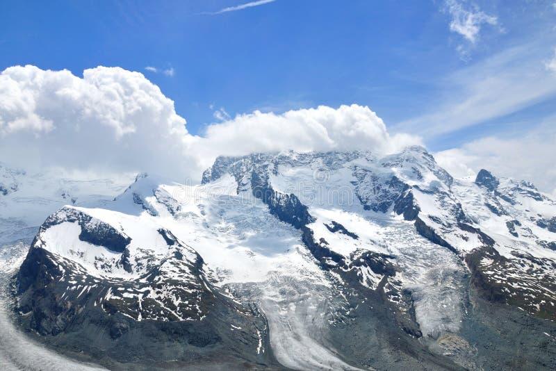 Alpine peaks, Switzerland stock photo