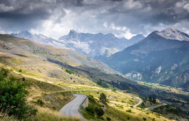 Alpine peaks stock photo