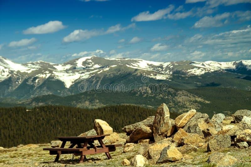 Alpine Picknic Area stock image