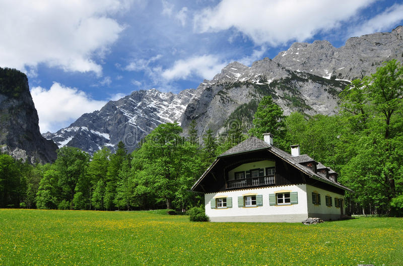 Alpine Residence. Alpine house in the heart of Berchtesgaden royalty free stock images