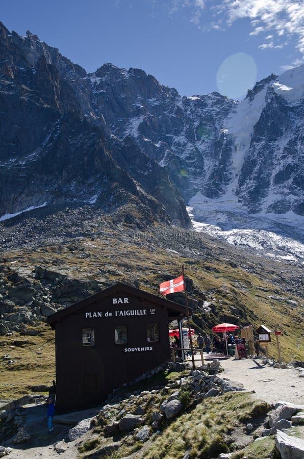 Alpine resting point stock photos