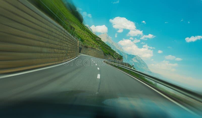 Alpine Road Speeding royalty free stock photo