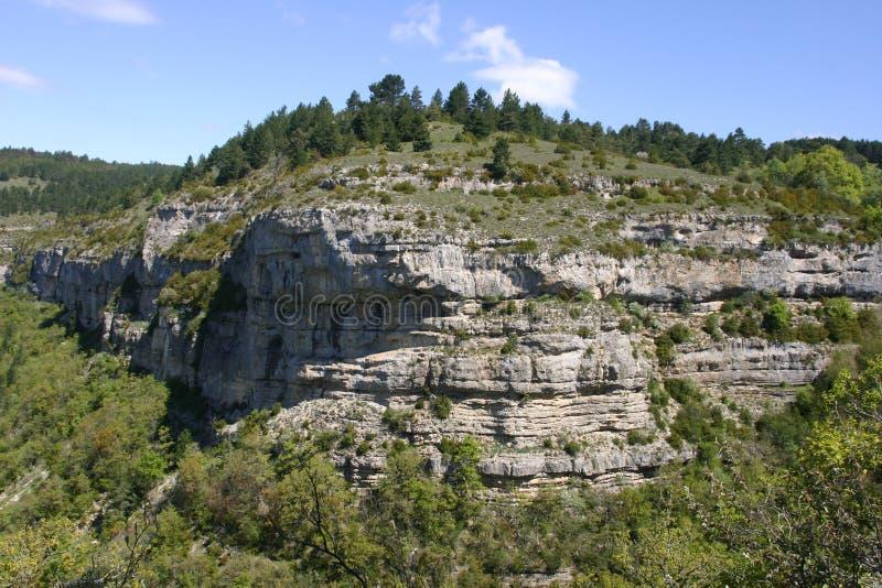 Alpine rocky outcrop stock image