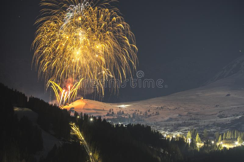 Alpine ski resort Serfaus Fiss Ladis in Austria. stock photography