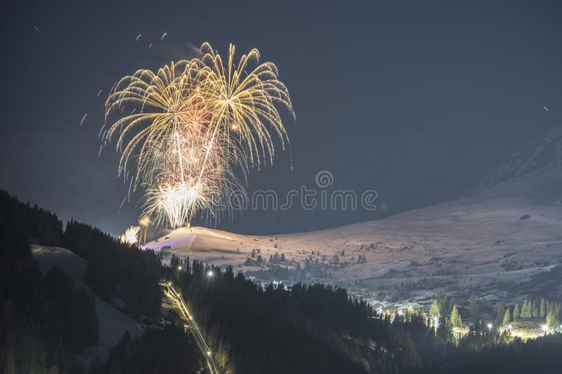 Alpine ski resort Serfaus Fiss Ladis in Austria. stock photos