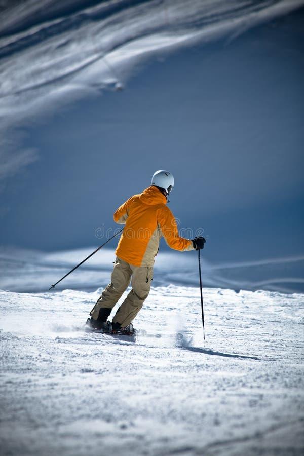 Alpine skiing royalty free stock image