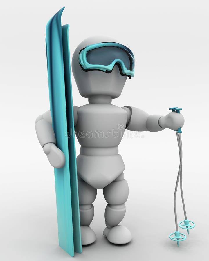 Download Alpine skiing stock illustration. Image of sports, snow - 12784850