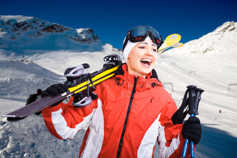 Download Alpine skiing stock image. Image of scene, alpine, high - 8540395