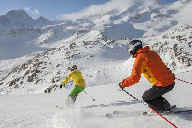 Download Alpine skiing stock photo. Image of healthy, enjoyment - 35131206
