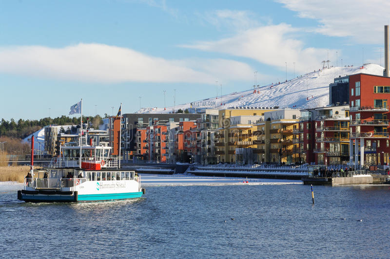 Alpine skiing in Stockholm 2 stock photography
