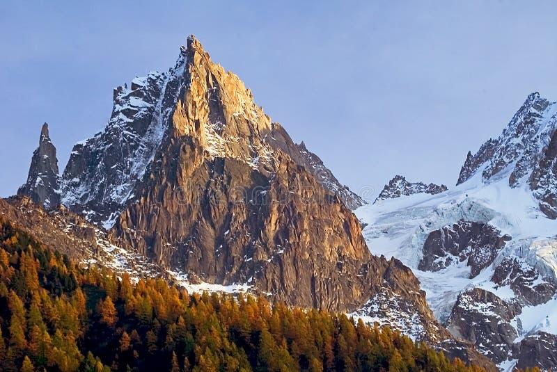 Download Alpine Szene mit Lärchen stockbild. Bild von lärchen, berg - 44293