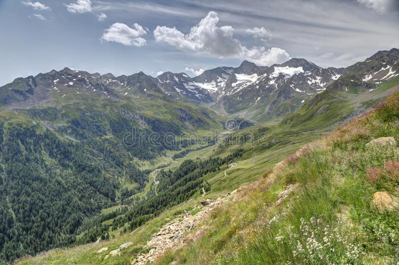 Alpine Valley royalty free stock photography