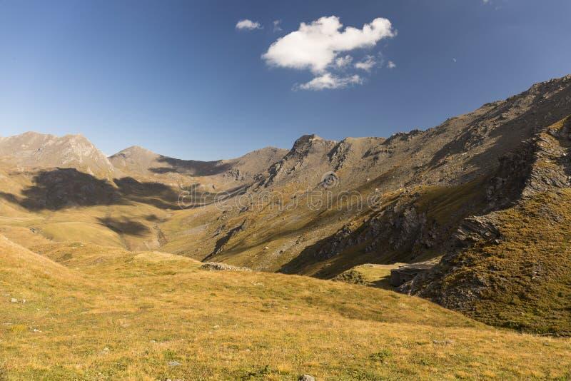 Beautiful alpine valley royalty free stock image