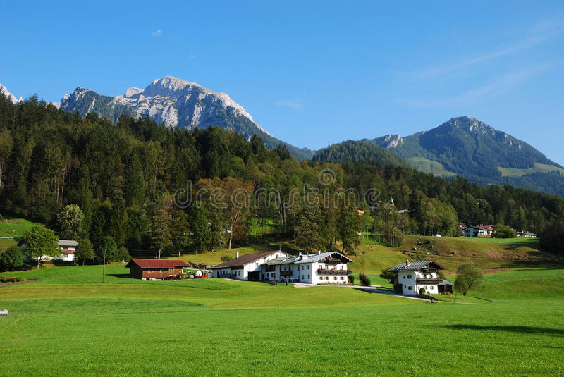 Download Alpine View stock image. Image of meadow, bayern, landscape - 13765995