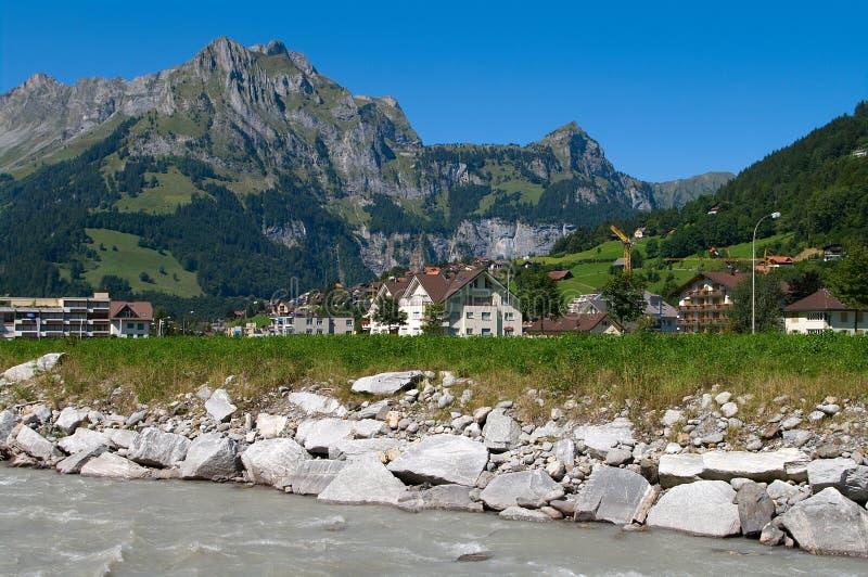 Alpine village stock images