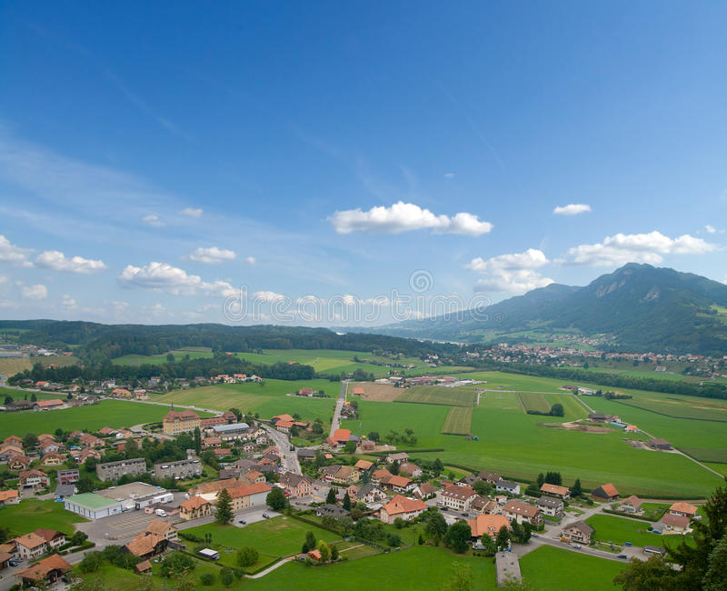 Alpine village royalty free stock photography