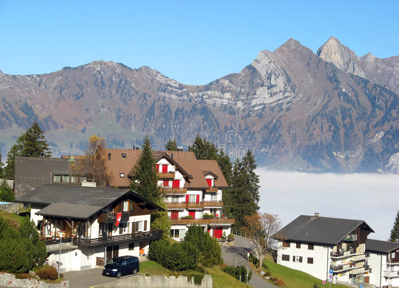 Alpine Village Stock Photos
