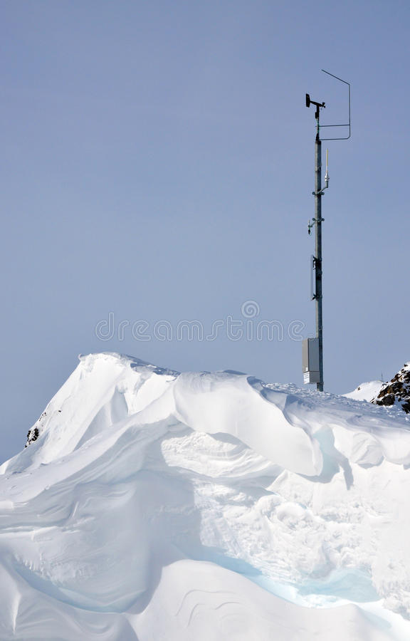 Download Alpine weather station stock photo. Image of clouds, coldness - 13382704