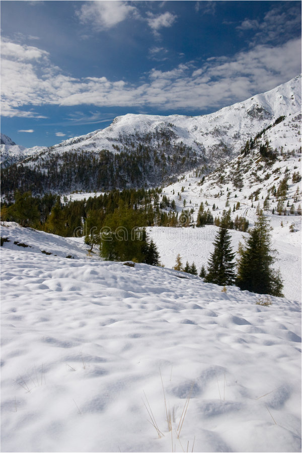 Free Alpine Winter Snow Scene Royalty Free Stock Image - 3857436