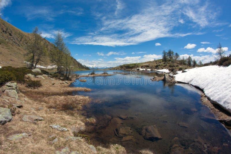 alpines湖 免版税图库摄影