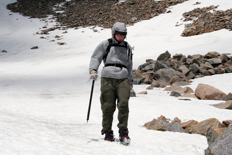 Alpines Bergsteigen - Montana Lizenzfreie Stockfotografie