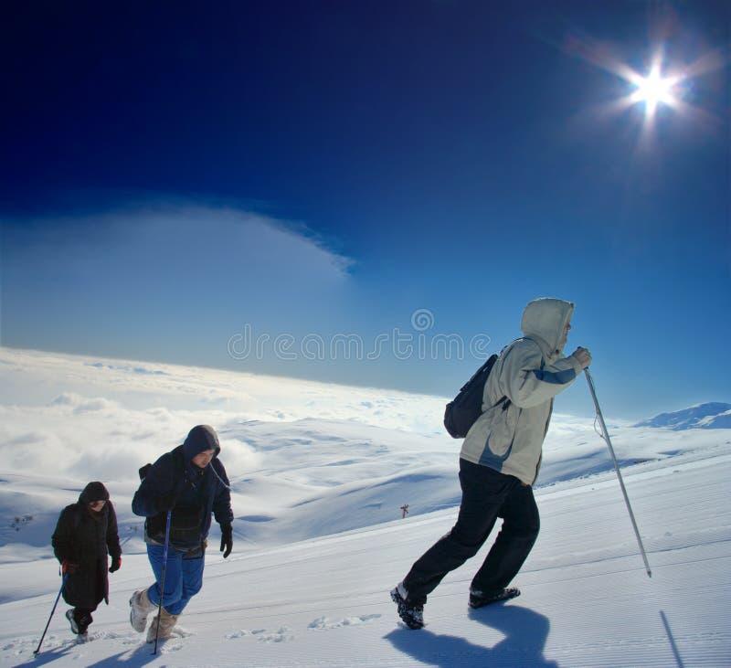 Alpines Expeditionsteigen lizenzfreie stockfotos