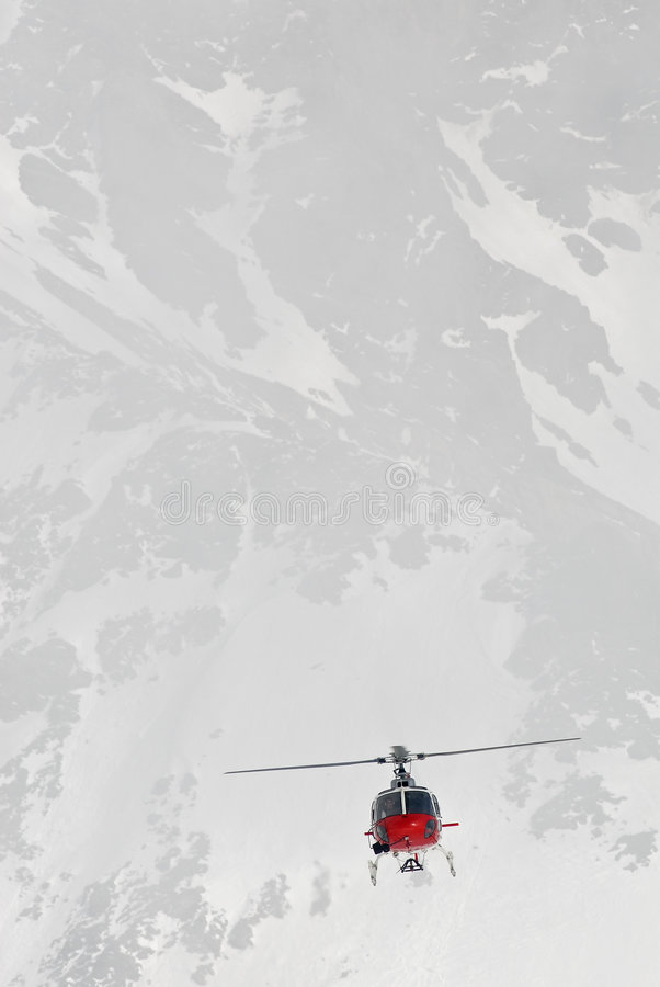 Alpines Flugwesen stockfoto