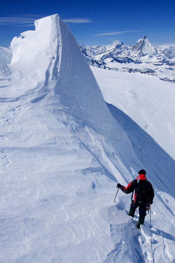 Alpines Steigen stockfotos