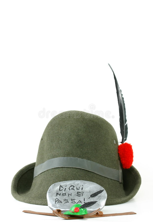 Free Alpini Skis And Hat And Motto Stock Photo - 1462090