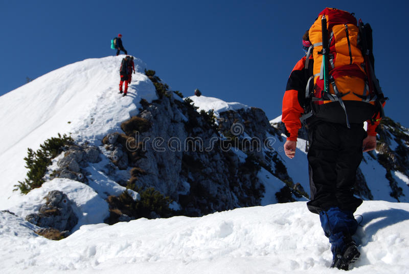 Alpinisme image libre de droits