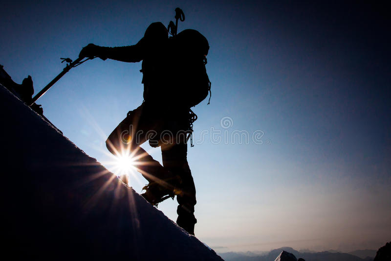 Alpinisme Photo libre de droits