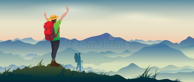 alpinisme royalty-vrije illustratie