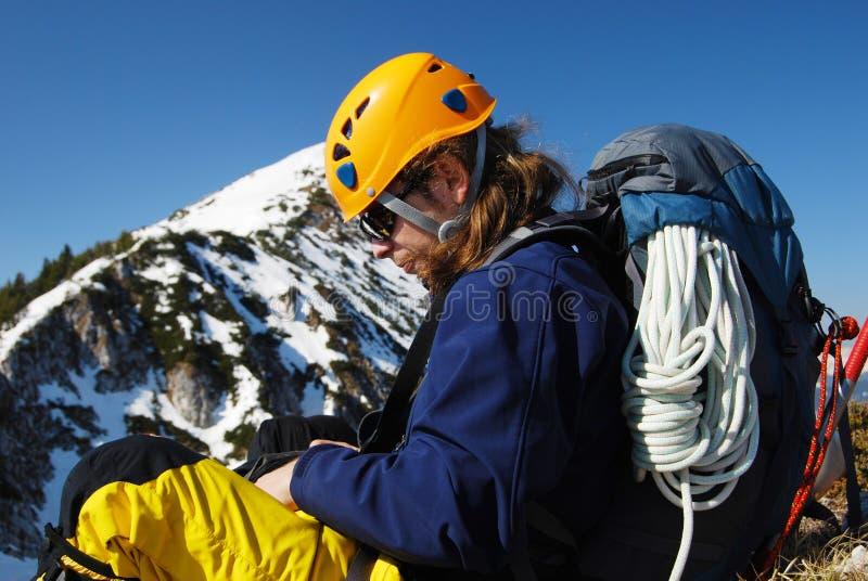 Alpinisme - Roumanie images libres de droits