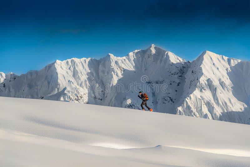 Alpinismo del esquí fotos de archivo libres de regalías