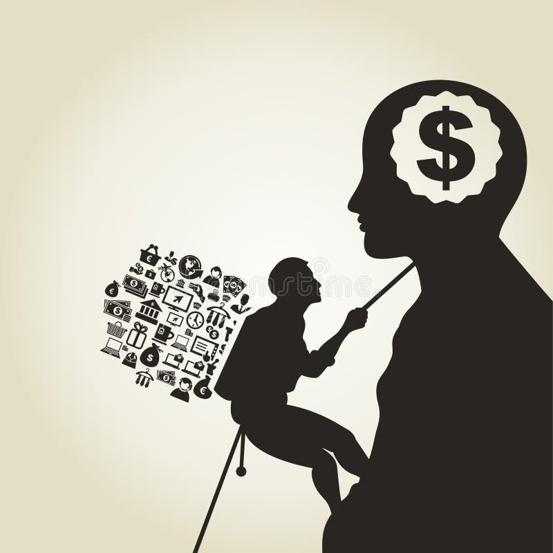Alpinismo del negocio libre illustration