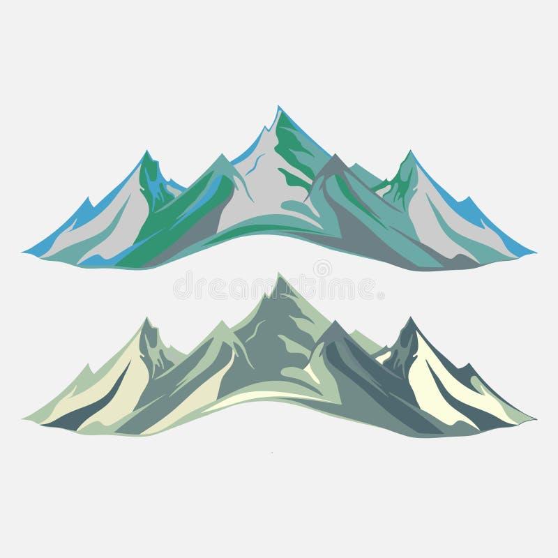 Alpinismo e ilustração de viagem do vetor Paisagem Moun ilustração stock