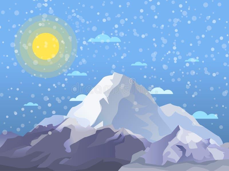 Alpinismo ed insegna alpina di turismo illustrazione di stock