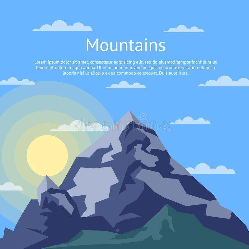 Alpinismo ed insegna alpina di turismo royalty illustrazione gratis