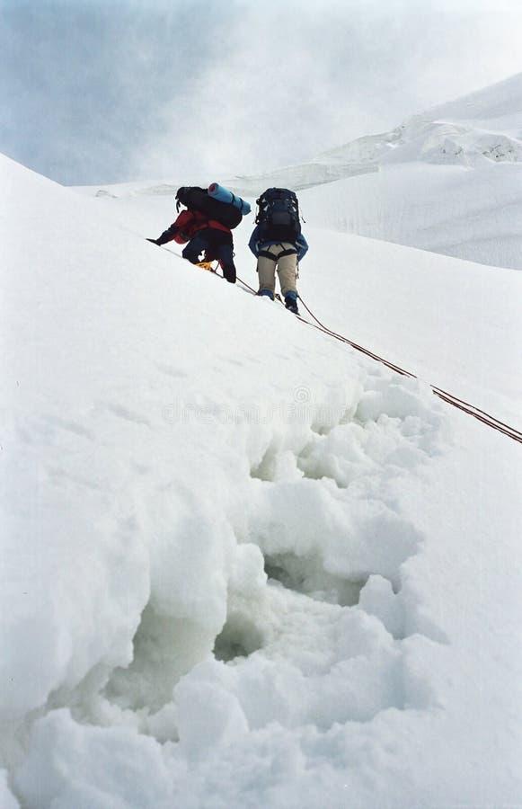 Alpinismo elevado fotografia de stock