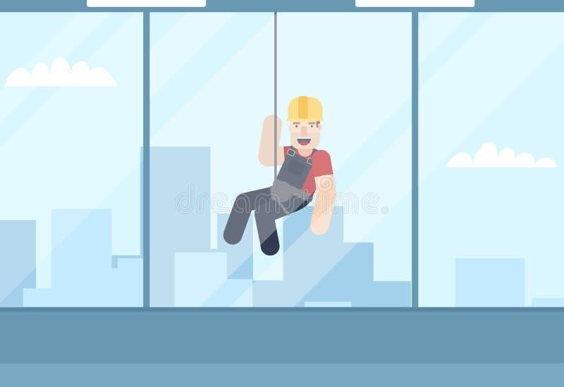 Alpinismo industrial Ilustración del vector libre illustration