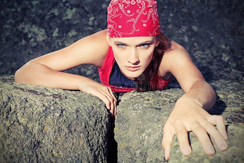 Alpinist fotografia de stock royalty free