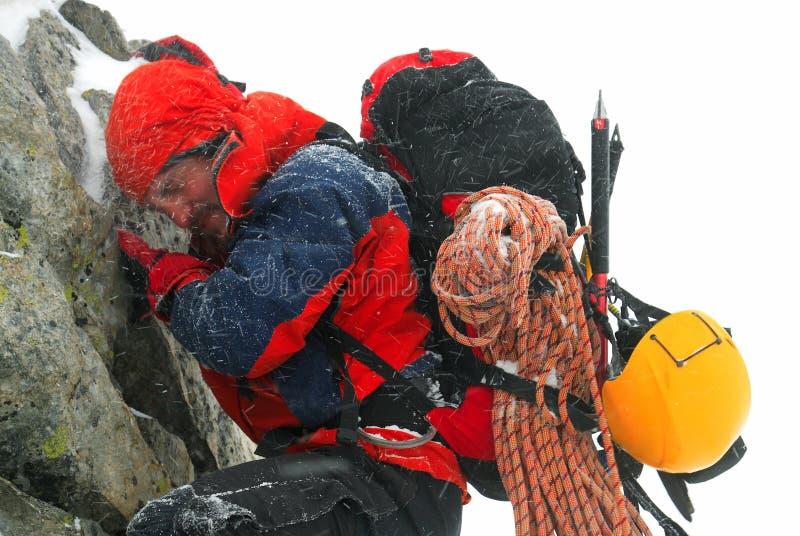 Alpinist stock fotografie