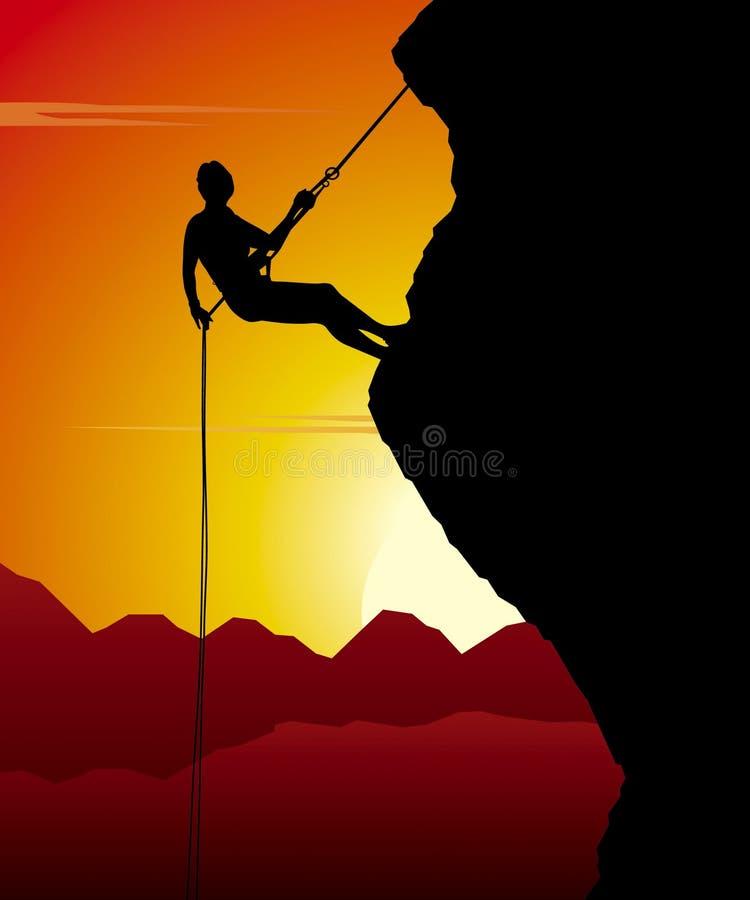 Alpinist vector illustratie