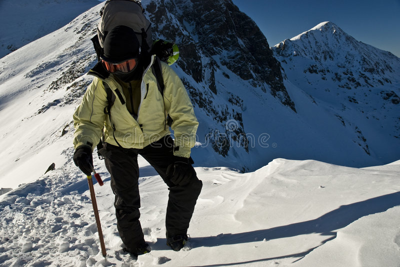 Alpinist. In Retezat mountains,Romania royalty free stock images