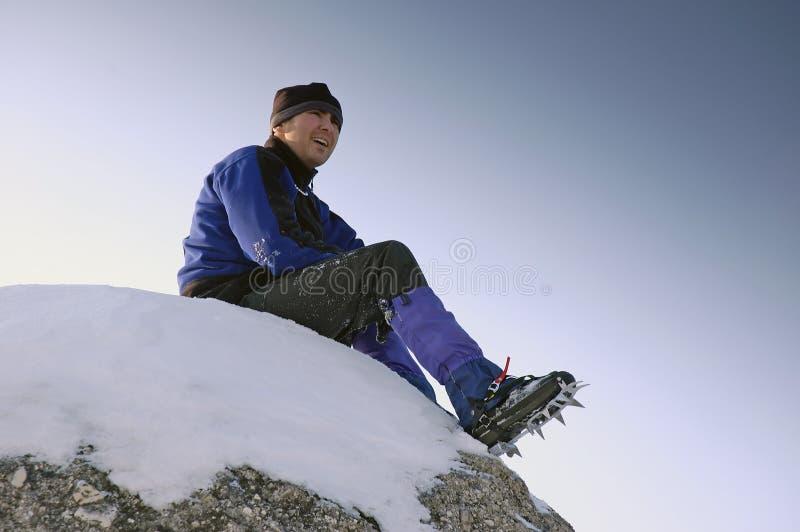 Alpinista imagens de stock