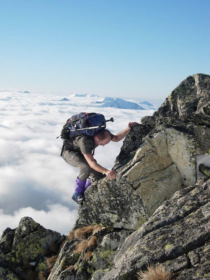 Alpinista imagens de stock royalty free