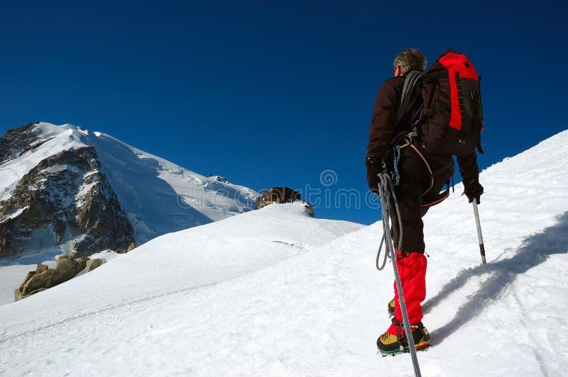 Alpinista imagem de stock